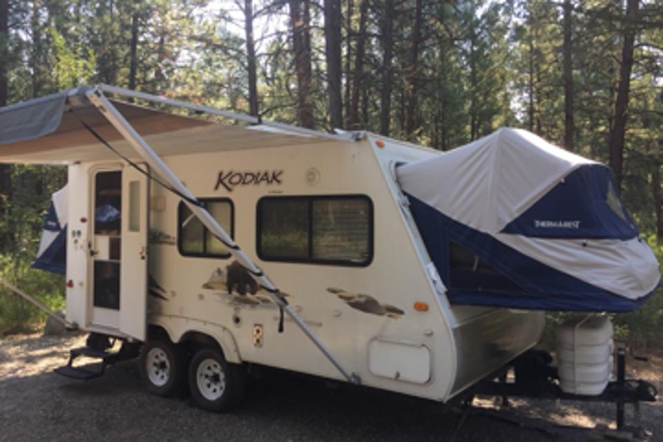 Family Friendly Hybrid Trailer Camping in Calgary, Alberta